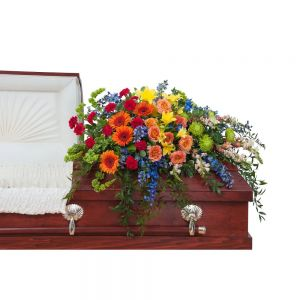 Treasured Celebration Casket Spray