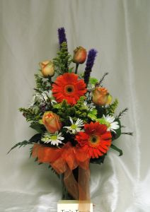 Simply Roses and Gerbera Bouquet Deluxe